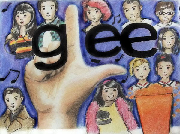 GLEE-CARTOON