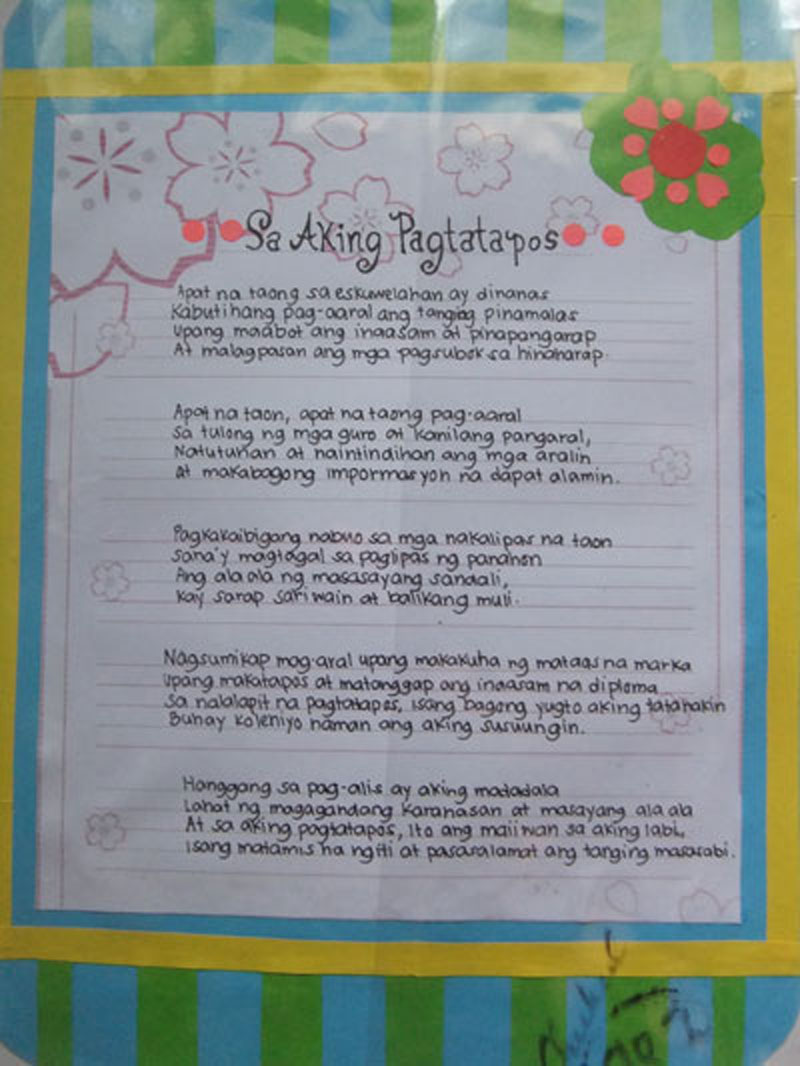 Graduation poems in tagalog newhairstylesformen2014 com