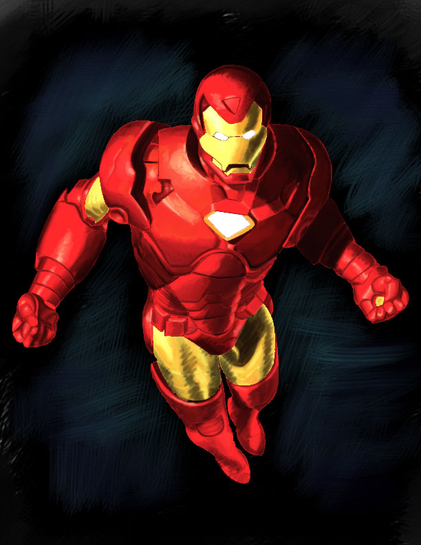 Iron man painting using photoshop